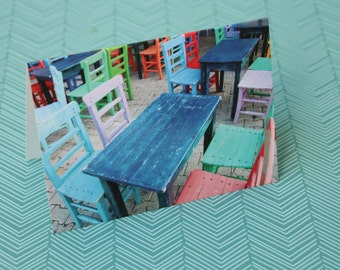Tables and Chairs Notecard