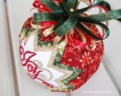 "TUTORIAL - Quilted Ornament pattern - Learn to make a quilted ""Snow Globe"" ornament"
