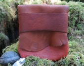 Rustic Earth Light Traveler Eco Leather Pouch