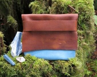 Sky Blue Light Traveler Eco Leather Tote