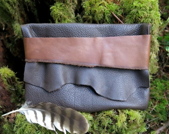 Cacao Forest Light Traveler Eco Leather Clutch