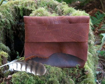 Natural Rustic Light Traveler Eco Leather Pouch