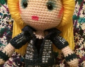 Hedwig And The Angry Inch Darren Criss Inspired Hand Crochet Doll