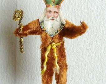 St.Nicholas Chenille Santa Claus Figure