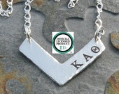 SORORITY SAMPLE I -Chevron Design Greek Letter Pendant -OLP