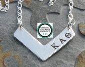 SORORITY SAMPLE II -Chevron Design Greek Letter Pendant