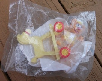 MINT McDonalds Fozzy Bear Muppet Babies figure with yellow riding horse 1986