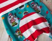 Maxaloones, Ahoi Pirate cloth diaper pants, organic euro knit pants