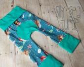 Maxaloones, Mermaid cloth diaper pants, nautical knit pants