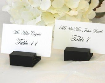 Wedding Place Card Holder -  Black place card holders  (Set of 50)