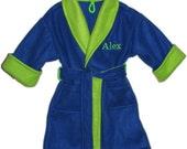 Personalized child's fleece robe