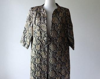 Lamé coat • vintage 1960s coat • lamé 60s jacket