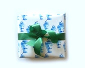 Wrapping Paper Roll, Ginger Jar, Gift Wrap, Blue and White, Classic, Gift Wrapping, Traditional, All Occasion, Original Design