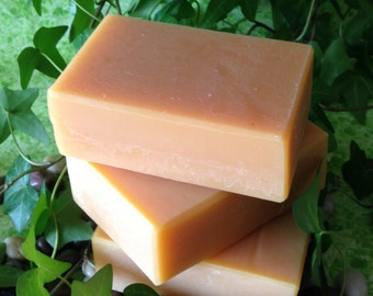 Lemon Coconut Milk Soap, 5 to 6 oz bar, vegan, scented only with pure essential oils