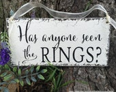 Has anyone seen the RINGS, Wood Wedding Signs, Ring Bearer Signs, Flower Girl Signs, Mr. and Mrs Signs, 5.5 x 11.5