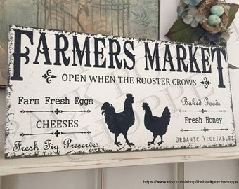 Amazing FARMERS MARKET SIGNS   Kitchen Signs   Chicken And Rooster   Fresh Eggs    Cheese  