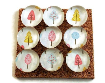 Funky Push Pins  Decorative Push Pins Thumb Tacks Cork Board Pins in Tiny Trees (P109)