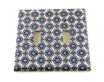 Double Switchplate Light Switch Cover in  Olivia  (187D)