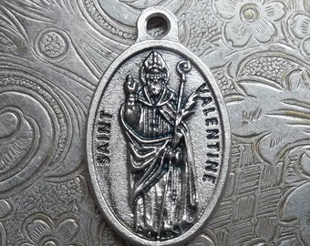 Saint Valentine Holy Italian Medal Patron Of Engaged Couples, Bee Keepers, Happy Marriages, Lovers, Young People, Epilepsy, & Fainting