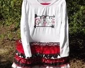 Ruffle T-Shirt Dress, Cougar Theme, School Spirit
