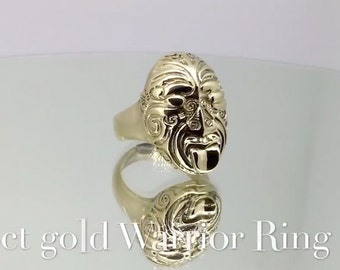 18ct Gold Maori Warrior Ring