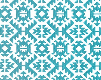 Premier Prints PAWNEE Coastal Blue and White Fabric - Yardage