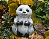 Fat Buddha Statue - Zen Panda Bear Statue - Meditating Buddha Bear - Meditation Garden Statue