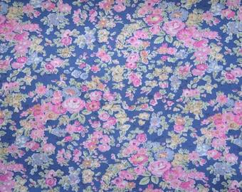 "Liberty Tana Lawn ""TATUM"" indigo/pink fat quarter"