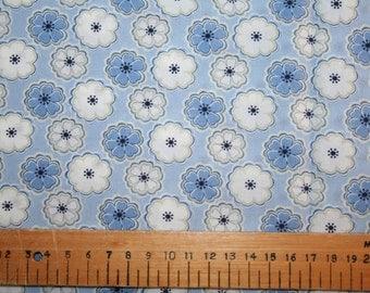 """Liberty Tana Lawn """"TORIA"""" blue 20 x 20cm (8 x 8"""")"""
