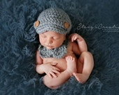 Baby Boy Hat and Bowtie Set, Newborn Boy Outfit, Infant Photo Outfit, Coming Home Outfit, Baby Bow Tie, Baby Newsboy Hat, Grey Baby Boy Set