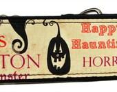 Halloween Words Cream Martingale Collar-