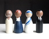Wooden Peg Dolls // The Peace Makers // Educational Toys Mother Teresa, Martin Luther King, Jr., Fair Trade Toys