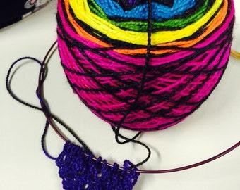 Dye-To-Order Neon Nights Shawl Kit