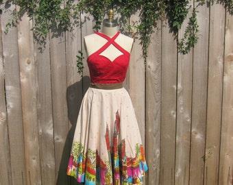 1950s Handpainted Circle Skirt Rockabilly VLV