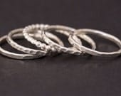 Sterling Silver Rings, Stacking Rings, Silver Ring, Women, Girls, Dainty, Thin, Everyday Jewelry, Delicate, Stackable, Stacking, Stack