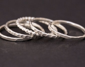 Stackable Rings, Sterling Silver Rings, Stacking Rings, Silver Ring, Women, Girls, Dainty, Thin, Everyday Jewelry, Delicate, Stacking, Stack
