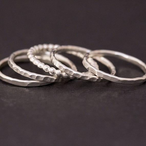 stackable rings sterling silver rings stacking rings silver