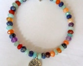 Stone Bracelet, Multi Shaded Bracelet, Tree of life bracelet, Multi Colored Bracelet