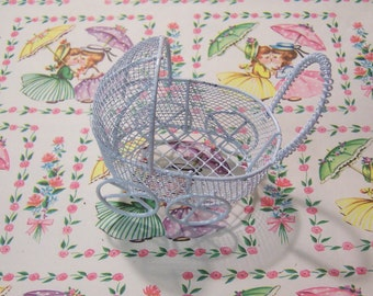 miniature wire baby buggy