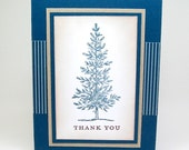 winter thank you card - masculine thank you card - thank you cards for men - tree thank you card