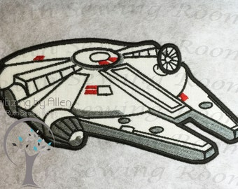 Star Wars Millennium Falcon Rebel Applique, Applique Embroidery Design THIS Not a PATCH -- You need a embroidery Machine to use this FILE