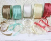 "1/4"" Silk Ribbon -- 3 yard bundle - You Choose Color"