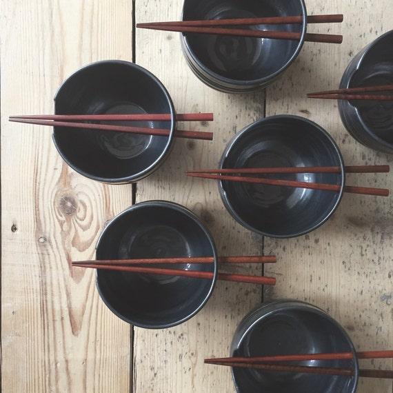 Rice Bowl in Metallic Black
