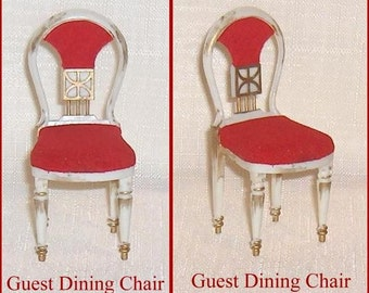 Dollhouse Furniture Pair of Guest Dining Room Chairs Vintage  Ideal Petite Princess