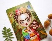 Frida Querida Postcard Postcrossing, Folk Art, Frida Kahlo