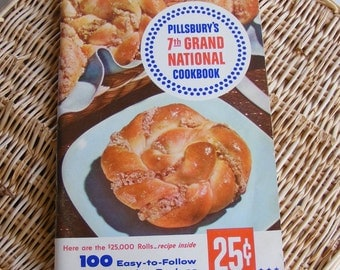 Vintage PILLSBURY'S 7TH GRAND NATIONAL Cookbook, 1956, First Edition
