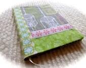 Birdcage Elegance Fabric Covered B6 Retro Notebook
