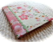 Japanese Cherry Blossoms and Rick Rack Fabric Covered B6 Retro Notebook