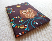Brown Owl Fabric Covered B6 Retro Notebook