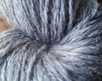 Hand Spun Yarn - Sport Weight - Iced Blue